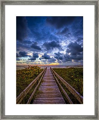 Walkway To Tomorrow. Framed Print by Nick  Shirghio