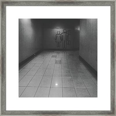 Walkway Towards Restroom Framed Print by Sirikorn Techatraibhop