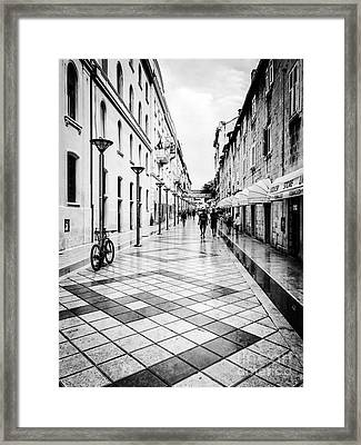 Walkways In Split, Croatia Framed Print by JMerrickMedia