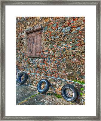 Wall Abstract Framed Print by James Hammond