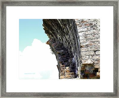 Wall And Blue Sky Framed Print by Connie Diane Richards