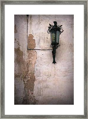 Wall And Lamp Framed Print