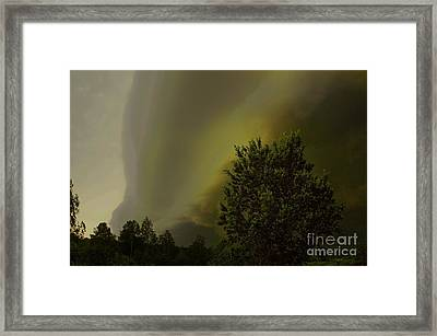 Wall Clouds Framed Print by The Stone Age