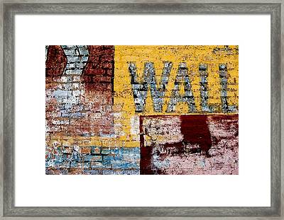 Wall Framed Print by Curtis Staiger