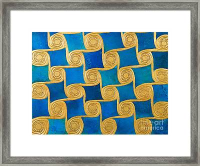 Wall Decoration From The Temple Of Amun At Malqata Framed Print by Egyptian School