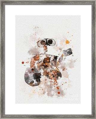Wall-e Framed Print by Rebecca Jenkins