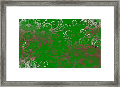 Wall Flower 2 Framed Print by Evelyn Patrick