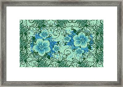 Wall Flower 8 Framed Print by Evelyn Patrick
