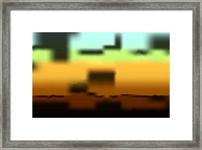 Framed Print featuring the digital art Wall Gradient by Kevin McLaughlin