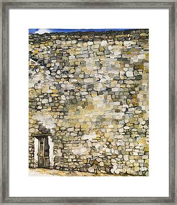 Wall In Erice By Renato Guttuso Framed Print