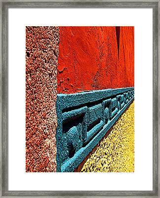Wall In San Miguel Framed Print by Mexicolors Art Photography