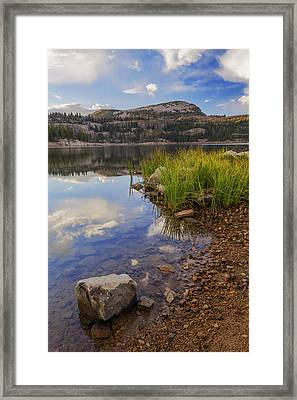 Wall Lake Framed Print by Chad Dutson