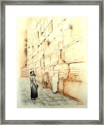 Wall Framed Print by Lena Day