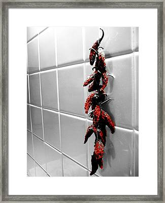 Wall Of Flame Framed Print by Toni Jackson