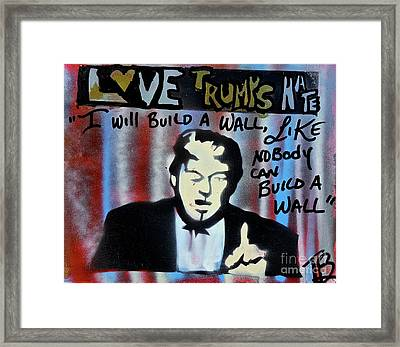 Wall Of Hate Framed Print by Tony B Conscious