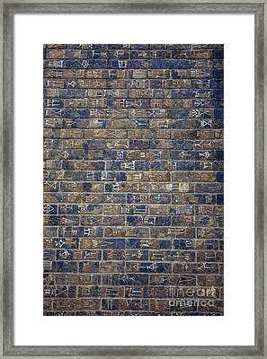 Wall Of Ischtar Framed Print by Patricia Hofmeester