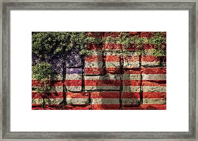 Wall Of Liberty Framed Print by Wim Lanclus