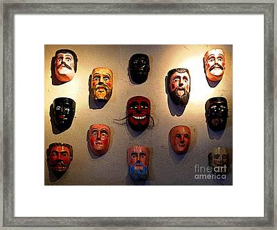 Wall Of Masks 1 Framed Print