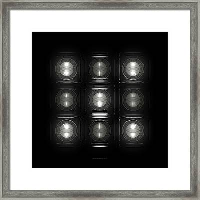 Wall Of Roundels 3x3 Framed Print