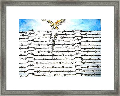 Wall Of Separations Framed Print by Paulo Zerbato