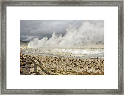 Framed Print featuring the photograph Wall Of Steam by Sue Smith