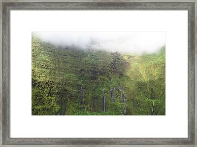 Wall Of Tears At Molokai Island Framed Print by Stacia Blase