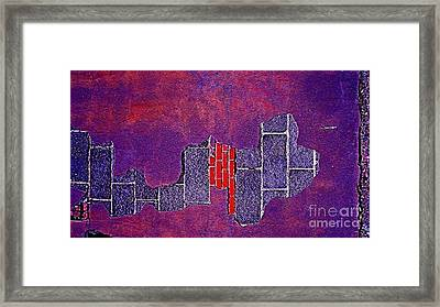 Wall Of Violet Textures Framed Print