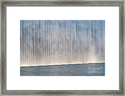 Wall Of Water Framed Print