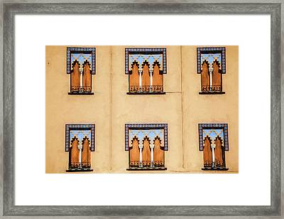 Wall Of Windows Framed Print by David Letts