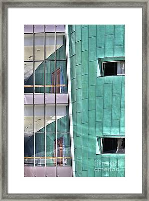 Framed Print featuring the photograph Wall Of Windows by Stephen Mitchell