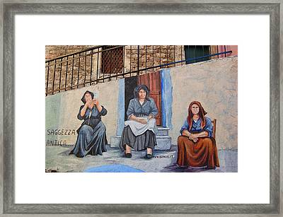Wall Painting Framed Print by Contemporary Art