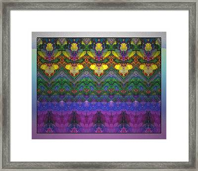 Flowers And Faces Framed Print by Bob  Eige