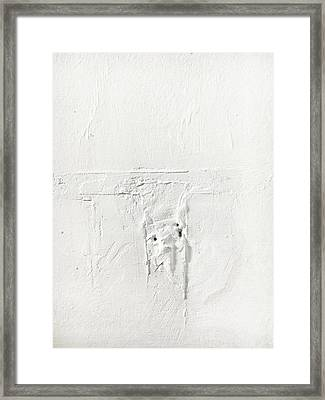 Wall Plaster Detail Framed Print by Tom Gowanlock