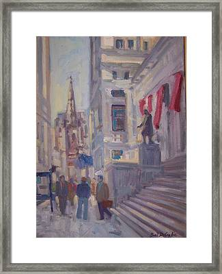 Wall St. Framed Print