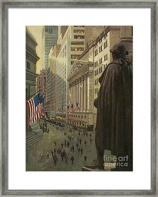 Wall Street 1 Framed Print by Gary Kim