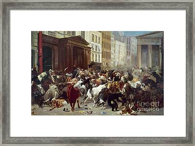 Wall Street: Bears & Bulls Framed Print by Granger