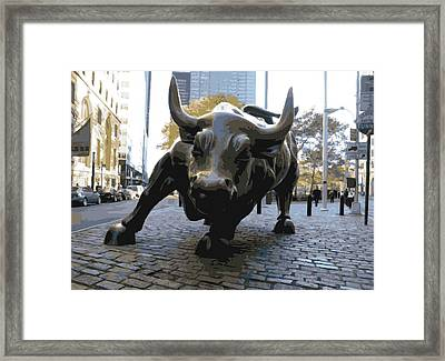 Wall Street Bull Color 16 Framed Print by Scott Kelley