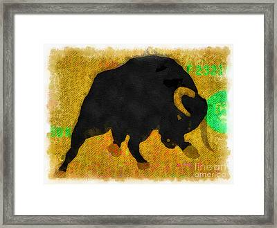 Wall Street Bull Market Series 2 Framed Print by Edward Fielding