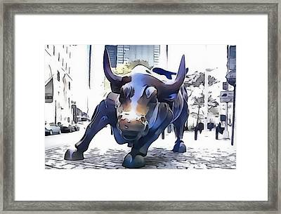 Wall Street Bull New York City Framed Print by Dan Sproul