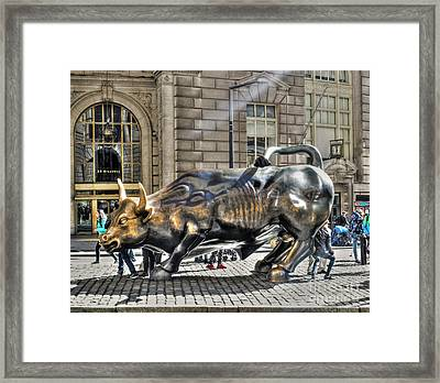Wall Street Bull Framed Print