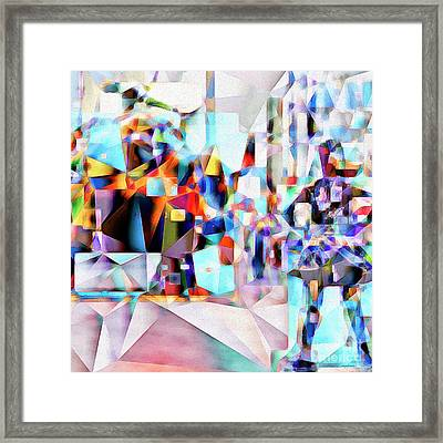Framed Print featuring the photograph Wall Street Fearless Girl Meets The Bull 20170328 Square by Wingsdomain Art and Photography