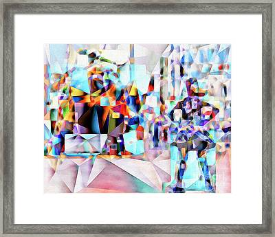 Framed Print featuring the photograph Wall Street Fearless Girl Meets The Bull 20170328 by Wingsdomain Art and Photography