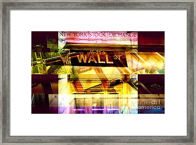 Wall Street Gold Framed Print by John Rizzuto