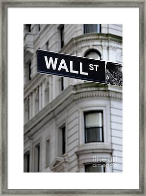 Wall Street New York City Financial District Framed Print