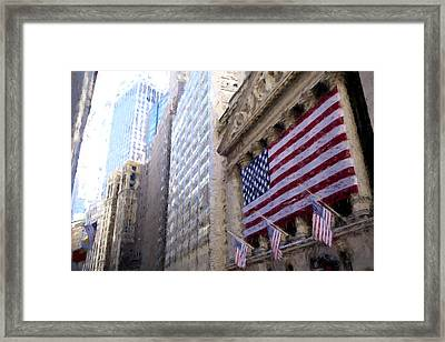 Wall Street, Nyc Framed Print by Matthew Ashton