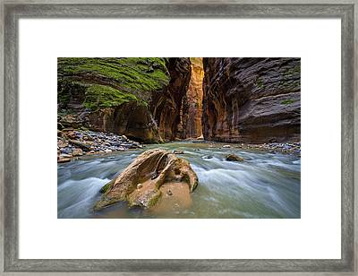 Framed Print featuring the photograph Wall Street Of The Narrows by Wesley Aston