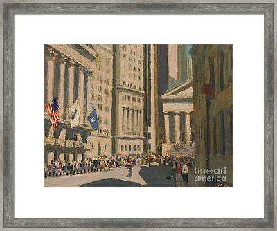 Wall Street Framed Print by Vladimir Kozma