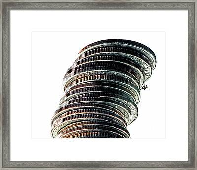 Wall Street Framed Print by Wes Iversen