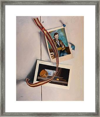 Wall Study Framed Print