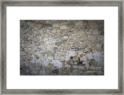 Wall Surface At Kales Fort In Lerapetra Framed Print by Antony McAulay